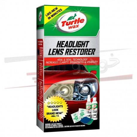 کیت براق کننده و پولیش طلق چراغ ترتل وکس شامل 7 قلم Turtle Wax Headlight Lens Restoration Kit